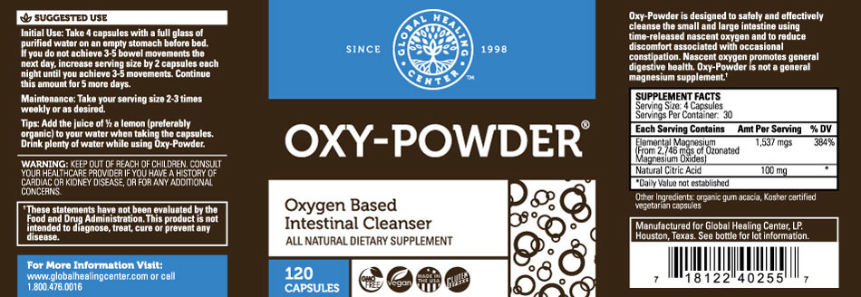 Oxy-Powder® (Colon Cleanser) | Root of Life